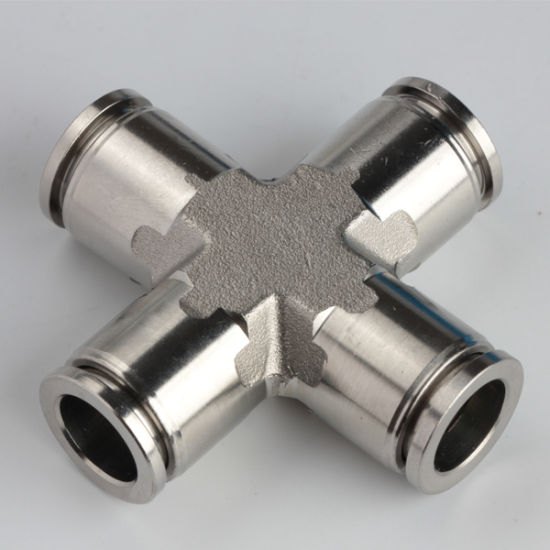 Pneumatic Union Cross Stainless Steel SS316L Fittings