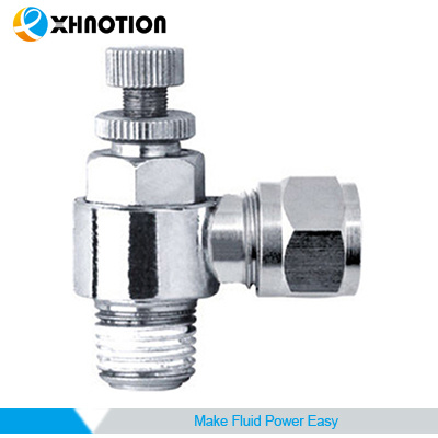 "Xhnotion Tube Fitting, Adapter, 1/4"" Tube Od X 1/4"" NPT Male Speed Controller"