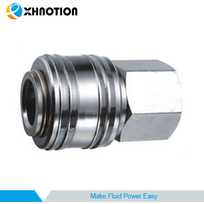 Germany Quick Coupler Female Socket Zinc-Plated Steel