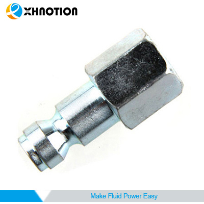 Automotive Type Quick Coupling Female Plug Chrome-Plated
