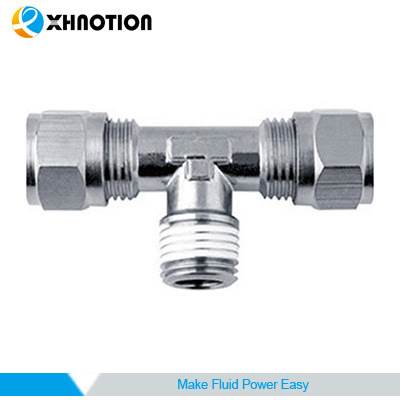 3/8 Bsp Male Tee Brass Compression Tube Fitting Adapter