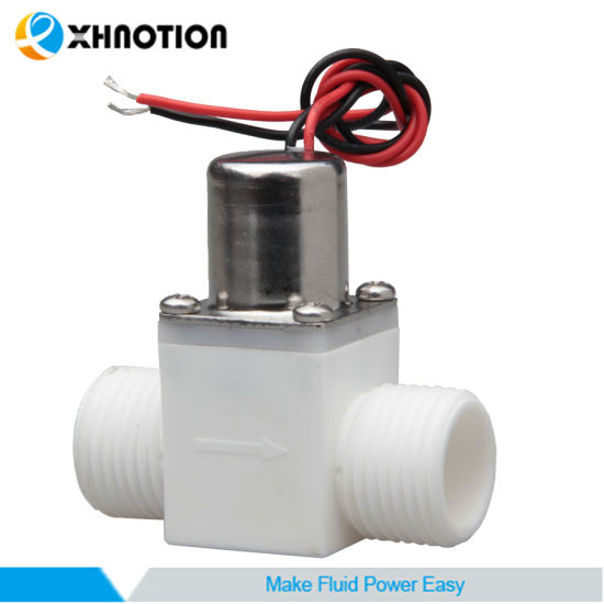 "Automatic 1/2"" BSPT Plastic Male Pulse-Signal Control Latching Solenoid Valve"