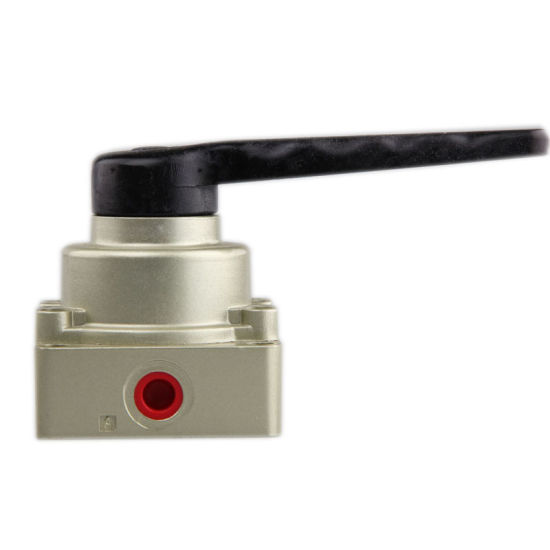 Xhnotion Pneumatic Directional Solenoid Valve 4 Way 2 Position G1/8′′ Hand Switch Valve 4hv210-06