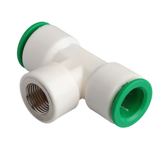20mm, 25mm, 32mm Main Line Female Tee Quick Connect Fitting
