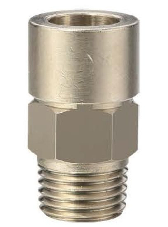 Anti-Spark Push in Fittings Flame Resistance Automotive Male Straight