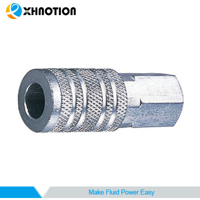USA Series Female Socket Chrome-Plated Steel Quick Coupling