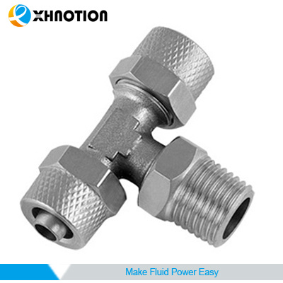 Rapid Screw Fitting Quick Connector Male Tee Tube to Thread