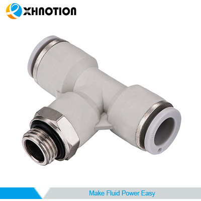 XHnotion Male Tee Branch Connector Push in Fitting for Air Hose