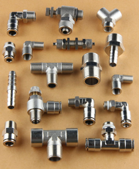 Nickel Plated Pneumatic Brass Fittings